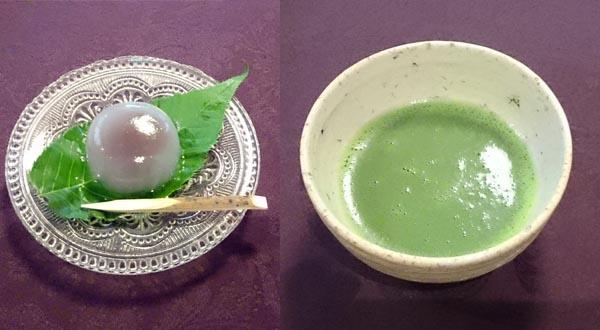 抹茶と水まんじゅう