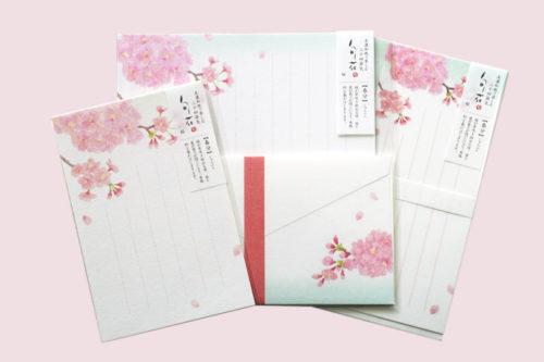 桜のレターセット/一筆箋/はがき