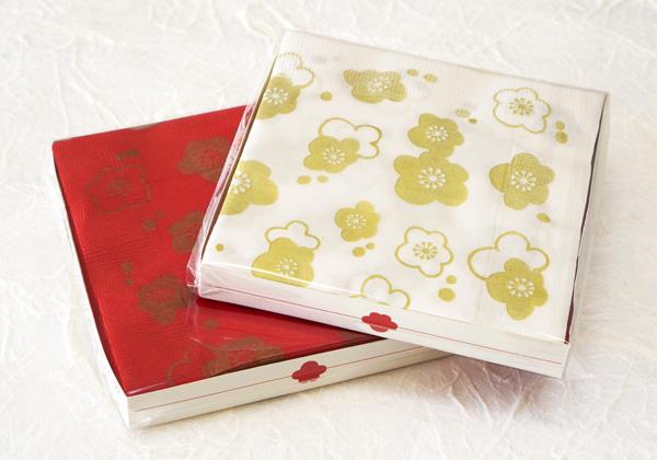 紙ナプキン-梅の花