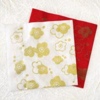 梅の花の紙ナプキン