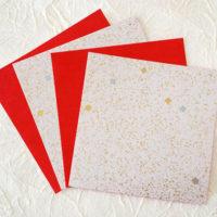 折り紙 - 金振り砂子