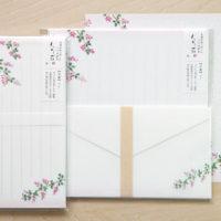 萩の花レターセット、一筆箋