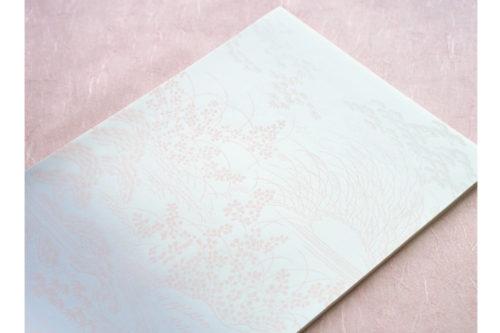 和紙の便箋-古風な秋柄
