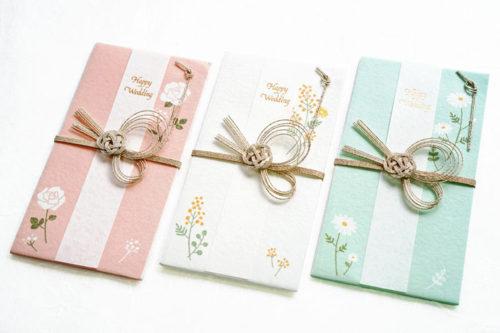 お花の祝儀袋 -上品で清楚 - 美濃和紙