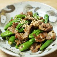 やむちん風のお皿-豚肉とシシトウ炒め