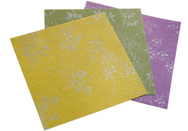 和紙の折り紙 - 花小紋