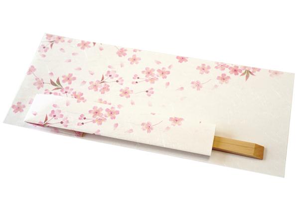 桜の敷き紙-国産の割り箸