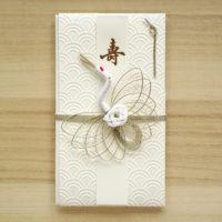 祝儀袋-青海波の白い和紙 水引