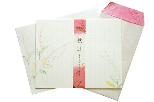 和紙レターセット-水引草