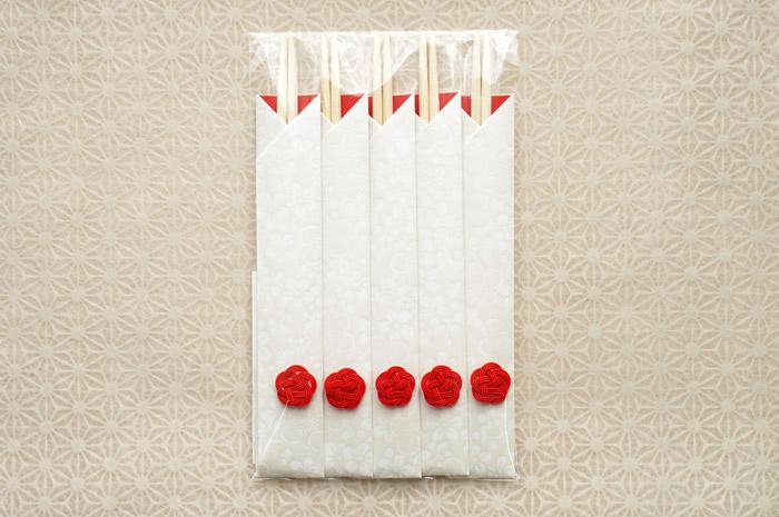 梅の花の箸袋-正月の祝い箸