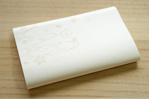 懐紙-流水文様-桜柄