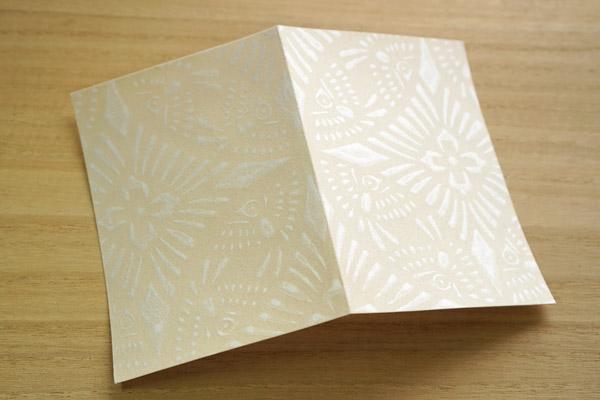 京からかみカード-雀型
