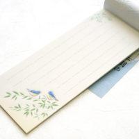 青い小鳥の一筆箋-二羽のさえずり