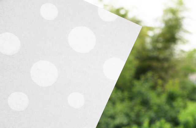 透かし和紙 - 水玉模様
